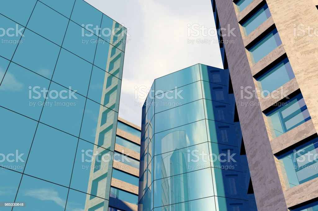 Modern skyscrapers, office buildings in business district royalty-free stock photo