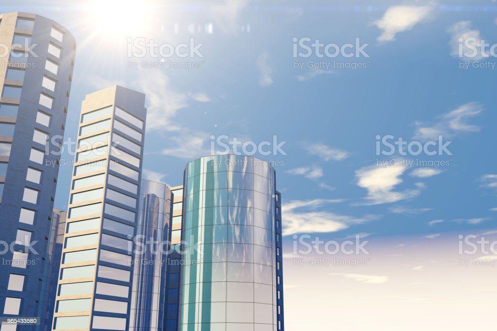 Modern skyscrapers, office buildings in business district zbiór zdjęć royalty-free
