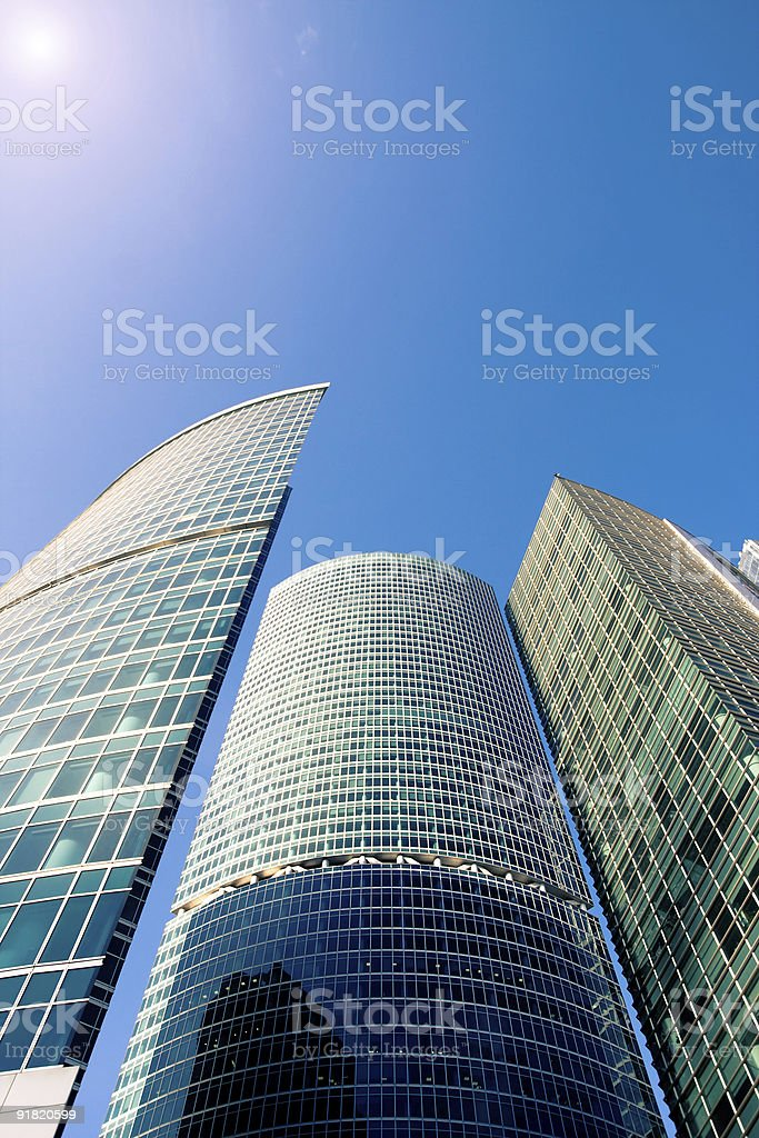 Modern skyscrapers towers in a daylight royalty-free stock photo