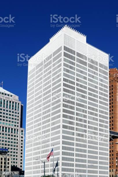 Modern skyscrpaer in Detroit, Michigan