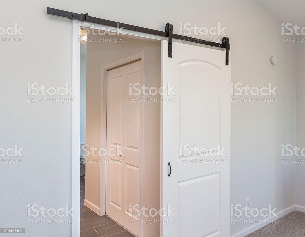 Modern Sliding Barn Door Stock Photo Download Image Now Istock