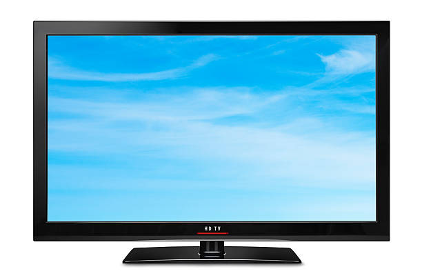 modern slim lcd hdtv - flat screen stock photos and pictures