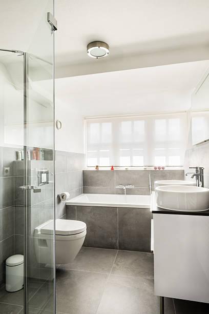 Modern small bathroom interior stock photo