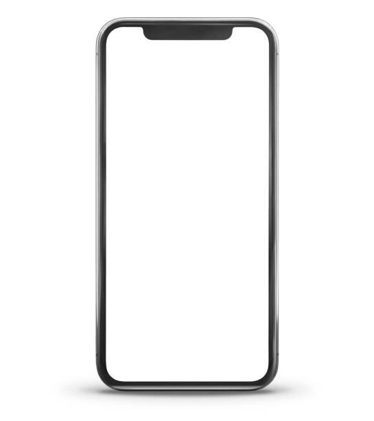 visualizzazione frontale moderna per smartphone - smart phone foto e immagini stock