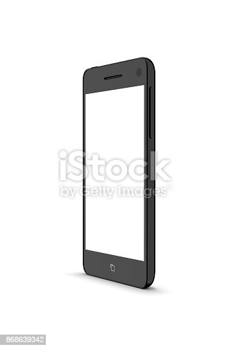 istock Modern smartphone isolated on white. 868639342