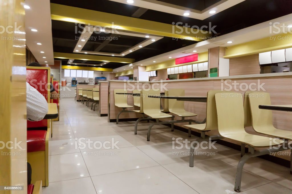 Modern Snack Bar Interior Stock Photo & More Pictures of ...