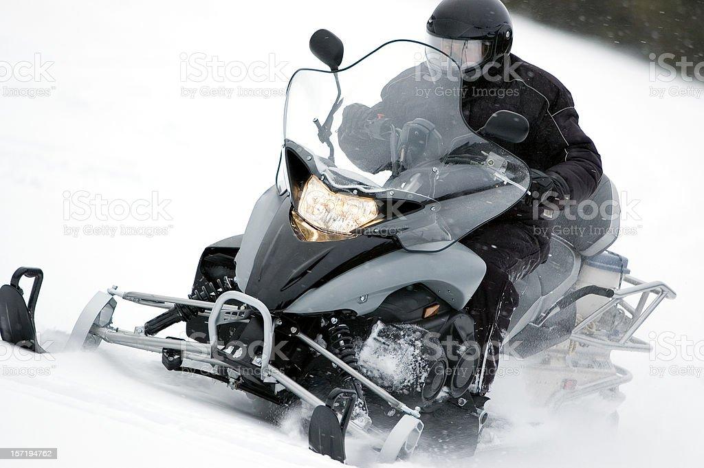 Modern Snowmobile royalty-free stock photo