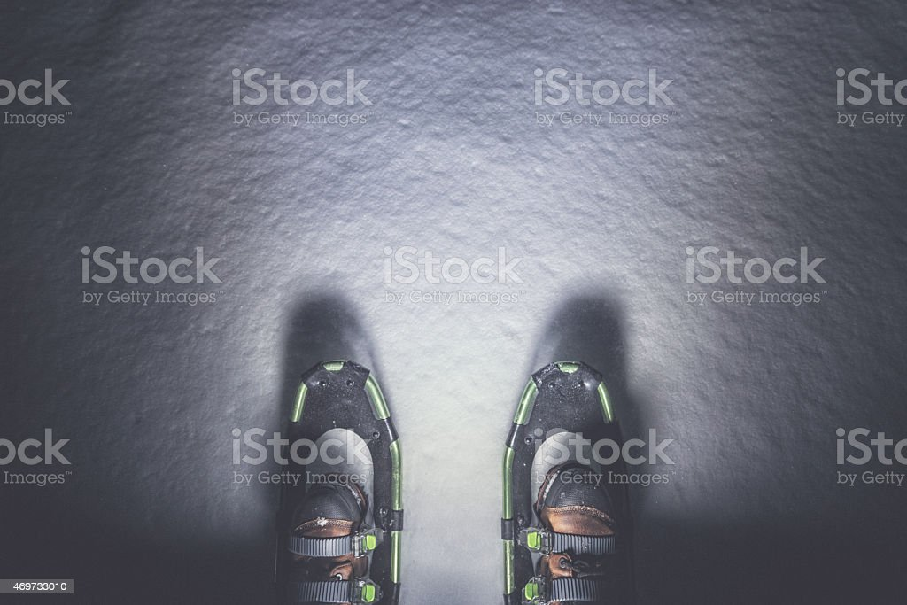 Modern Snowshoes stock photo