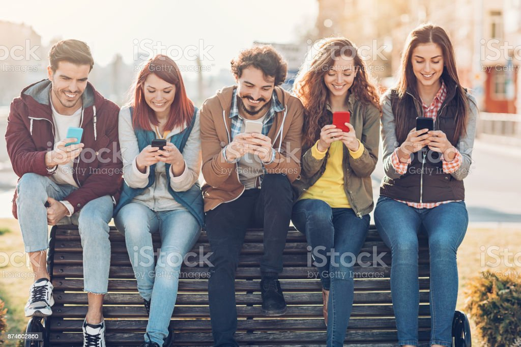 Modern social networking stock photo