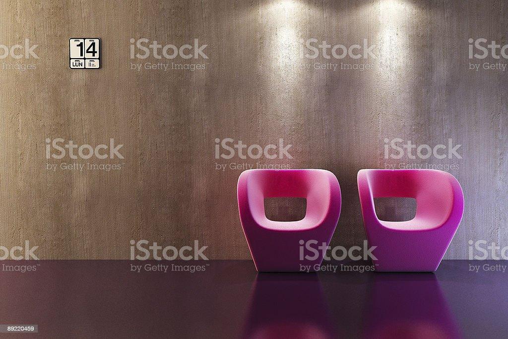 modern sofa 3D rendering royalty-free stock photo