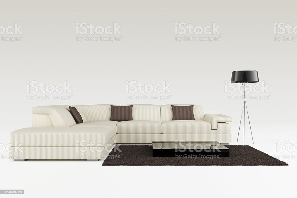 Modern Sofa - Clipping path royalty-free stock photo