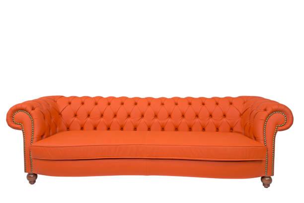 modernes sofa isoliert auf weißem hintergrund - stuhlpolster stock-fotos und bilder