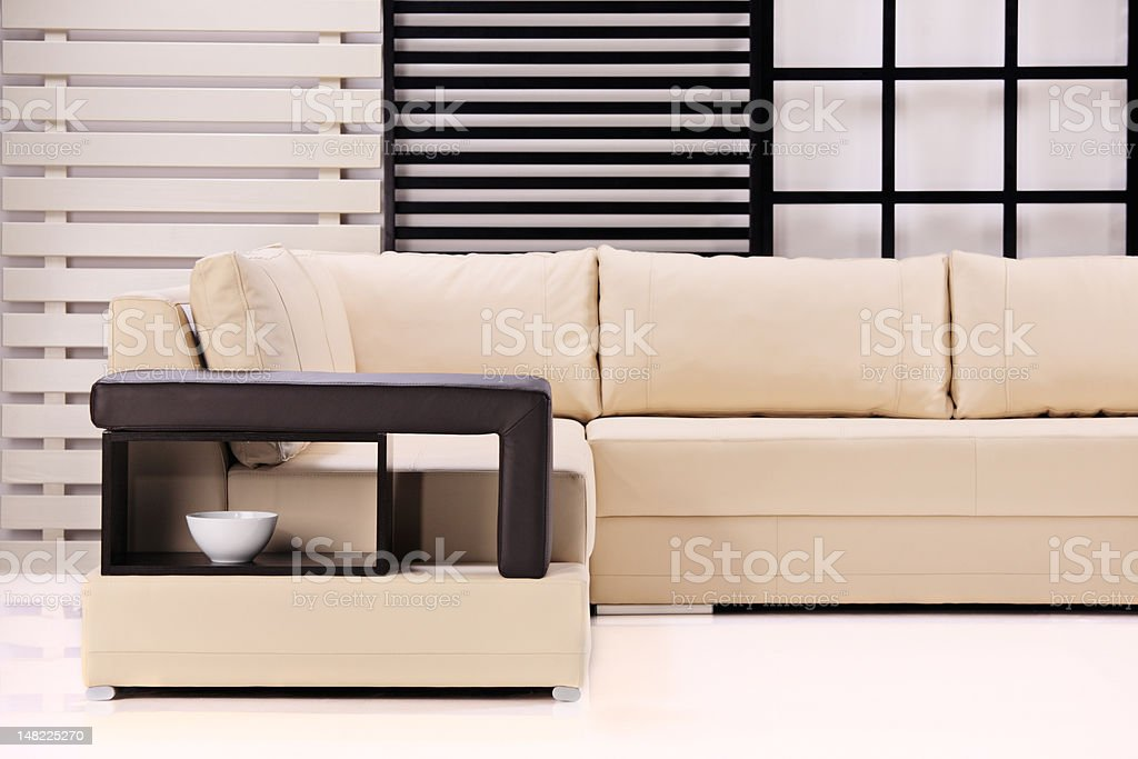 Modern sofa royalty-free stock photo