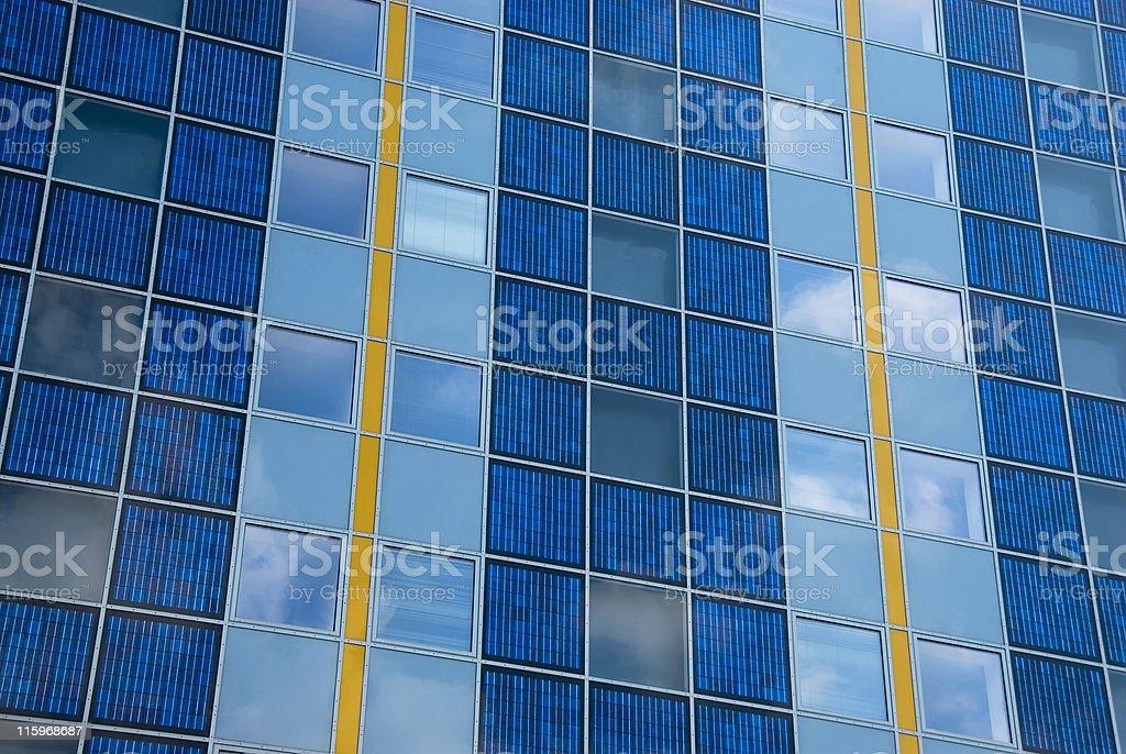 Modern solar cell at a facade royalty-free stock photo