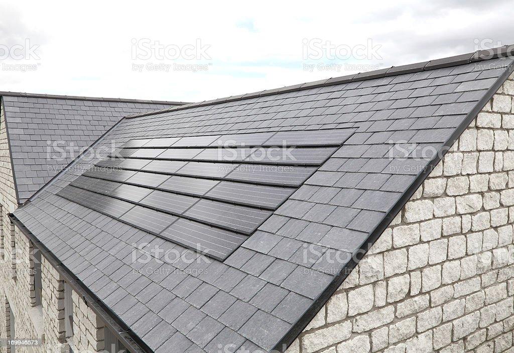modern solar panels stock photo