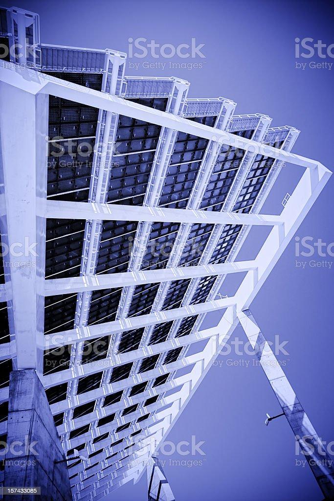 Modern Solar Power Station royalty-free stock photo