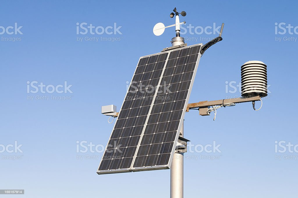Modern Solar Powered Weather Station royalty-free stock photo