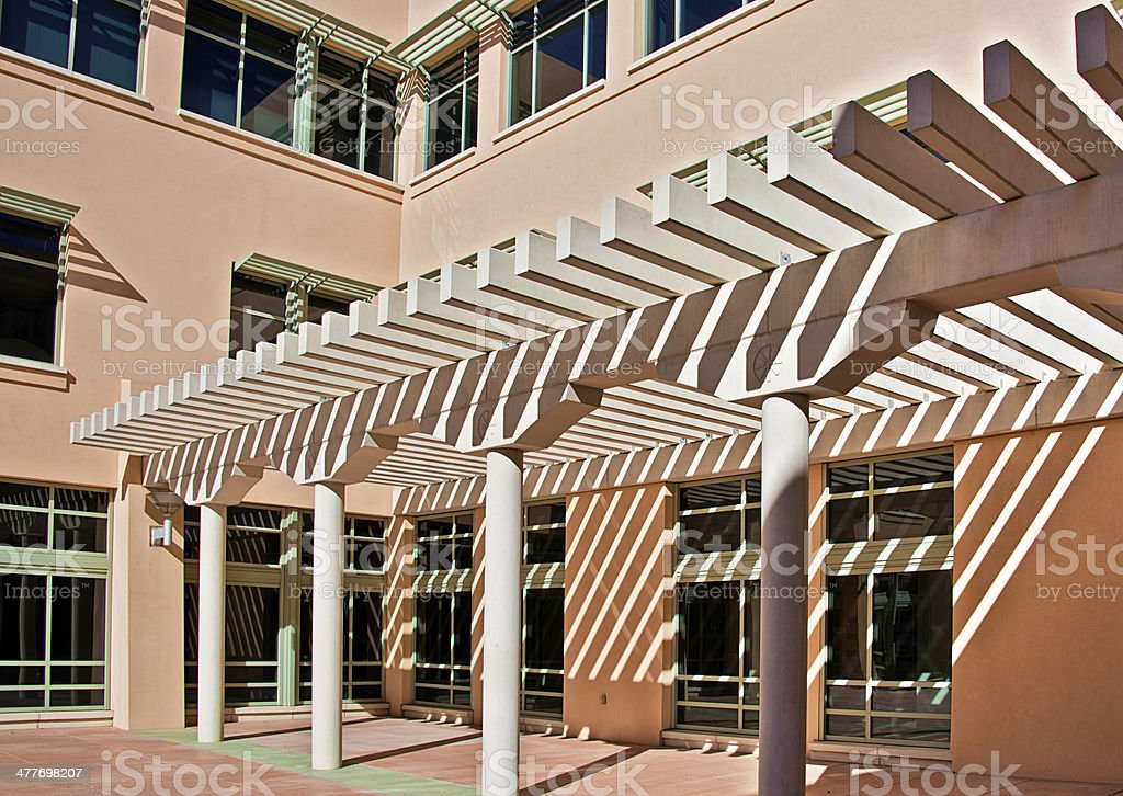 Modern Southwest Pueblo Architectural Style Architecture royalty-free stock photo