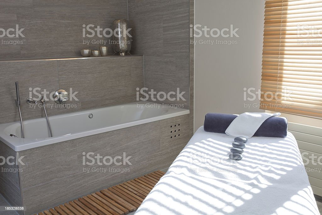 Modern Spa and Massage room stock photo