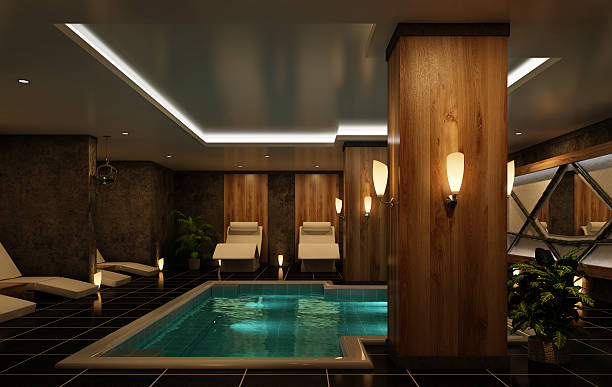 modern spa interior - nelleg stock photos and pictures