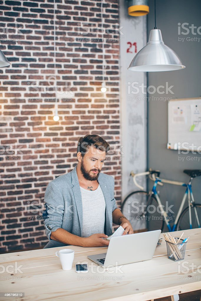 Modern space make it easy to work. stock photo
