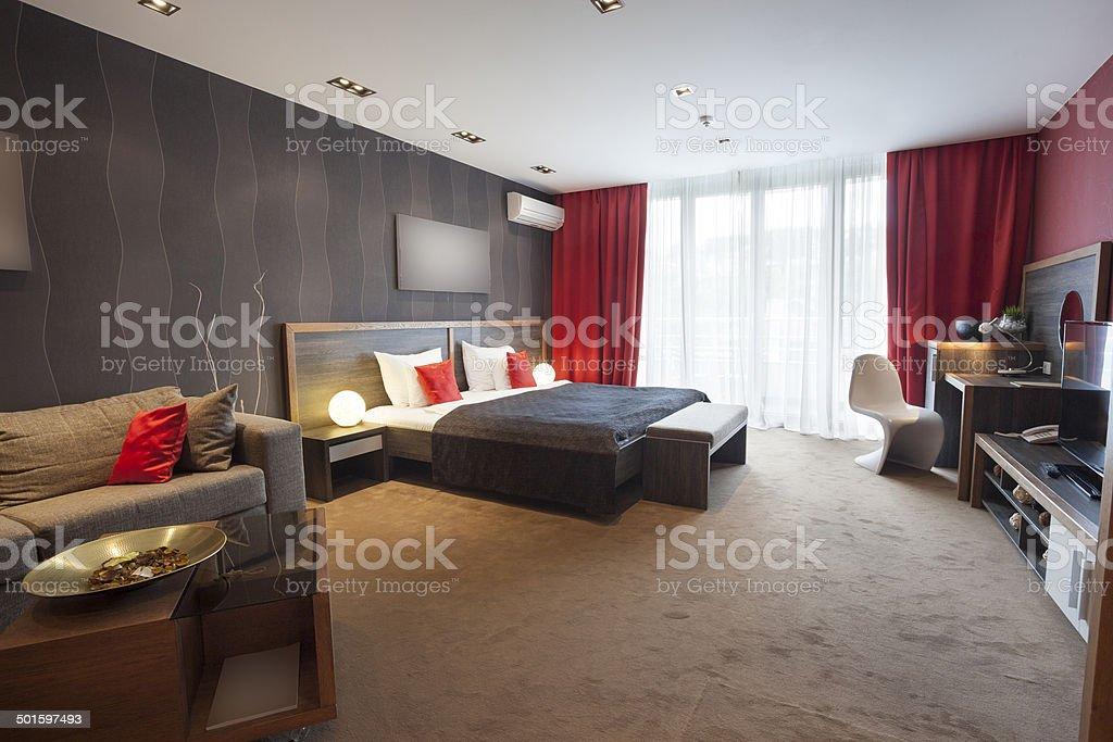 Modern spacious multi-purpose room stock photo