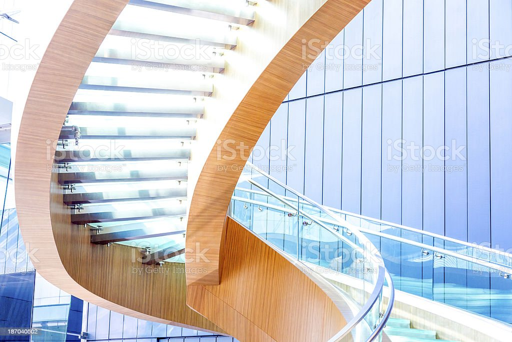 Modern Spiral Staircase in Office royalty-free stock photo