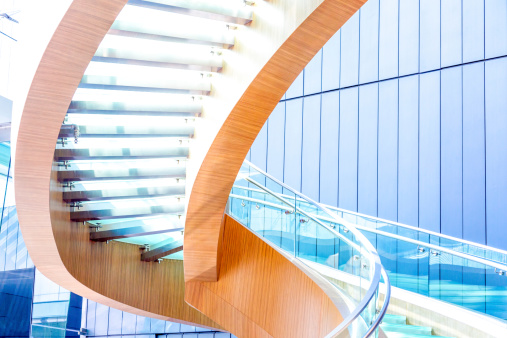 Modern Spiral Staircase in Office