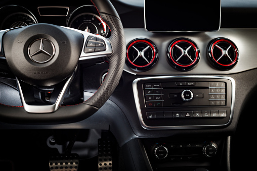 Modern Sport Car Interior Stock Photo - Download Image Now