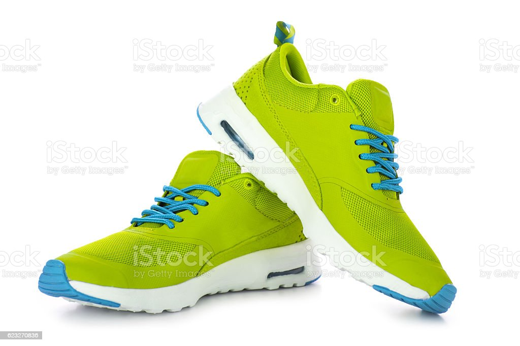 Modern sport shoes stock photo