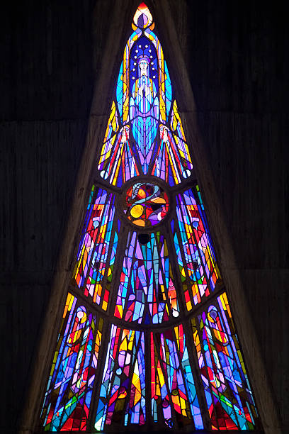 modern stained glass stock photo