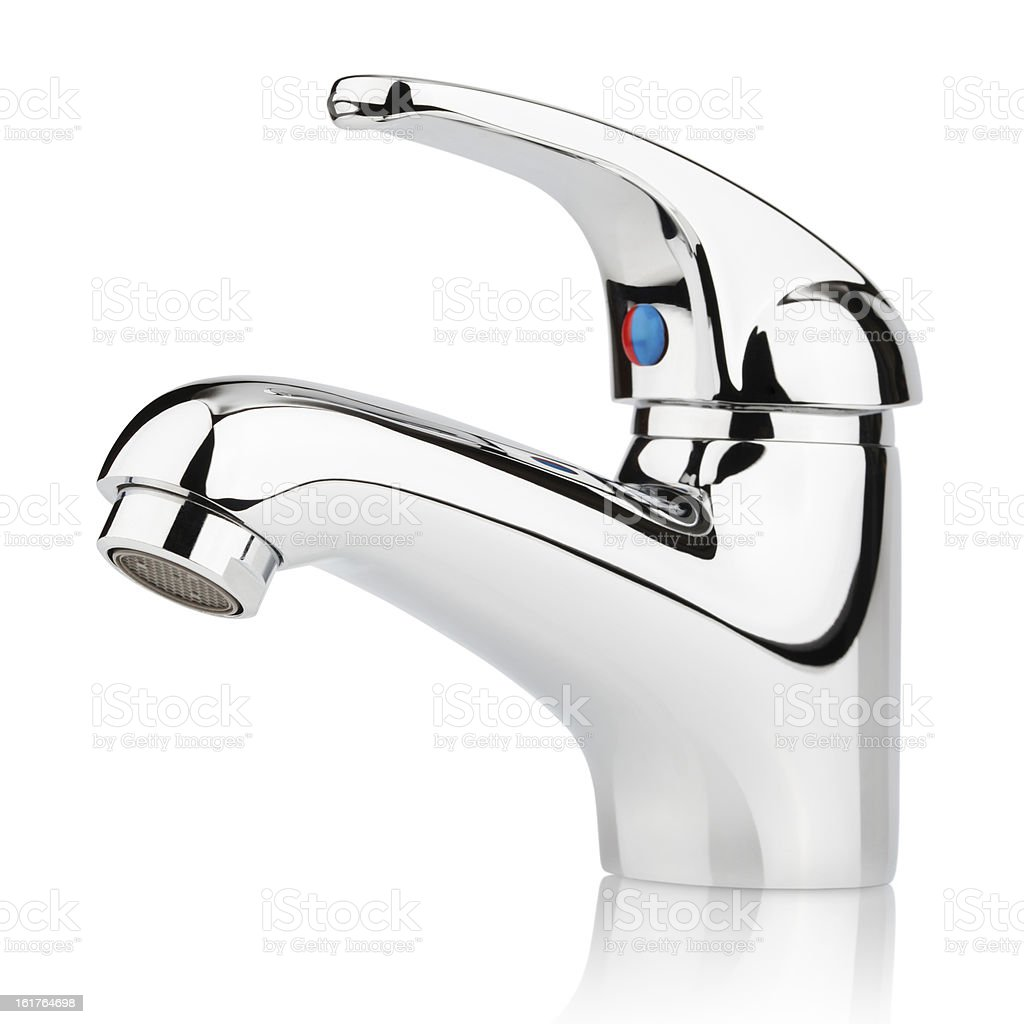Modern stainless steel tap royalty-free stock photo