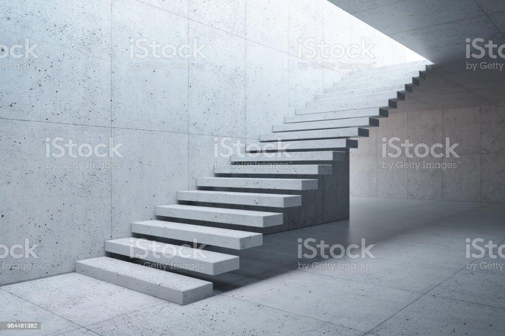 Photo libre de droit de Escalier Moderne En Béton Intérieur ...