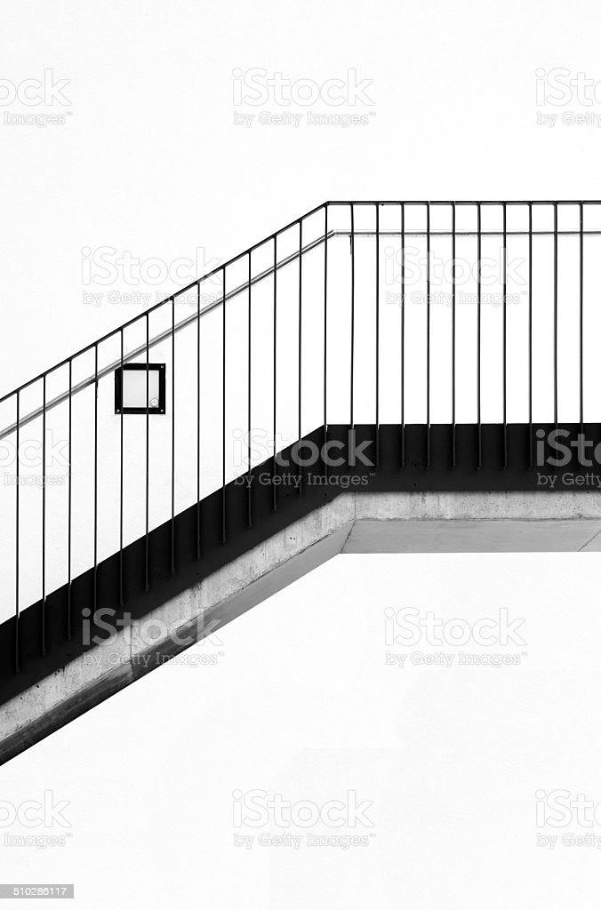 Modern staircase stock photo