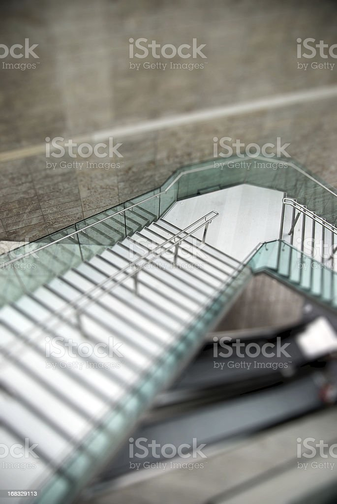Modern staircase tilt effect royalty-free stock photo
