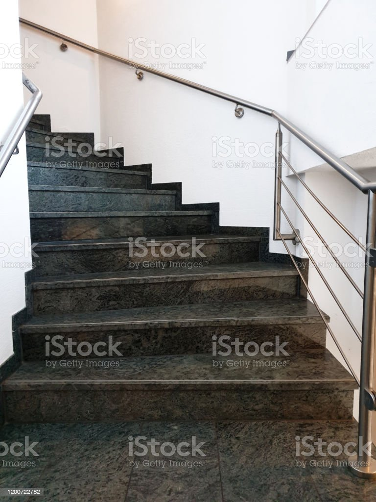 Modern Staircase With Black Grey Granite Floor Stock Photo Download Image Now Istock