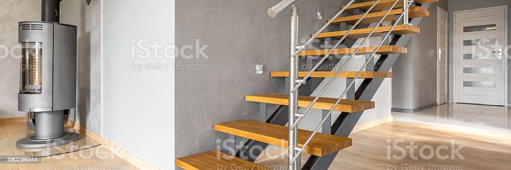 Modern stairs idea royaltyfri bildbanksbilder