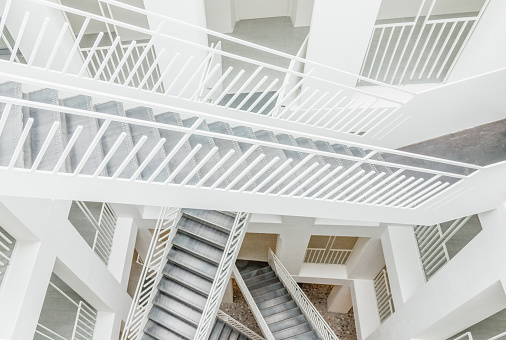 Modern Stairway Architecture Neues Rathaus Salzburg Austria