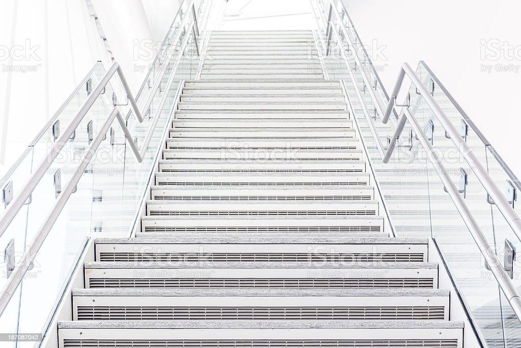 Modern Stairway to White Light stock photo