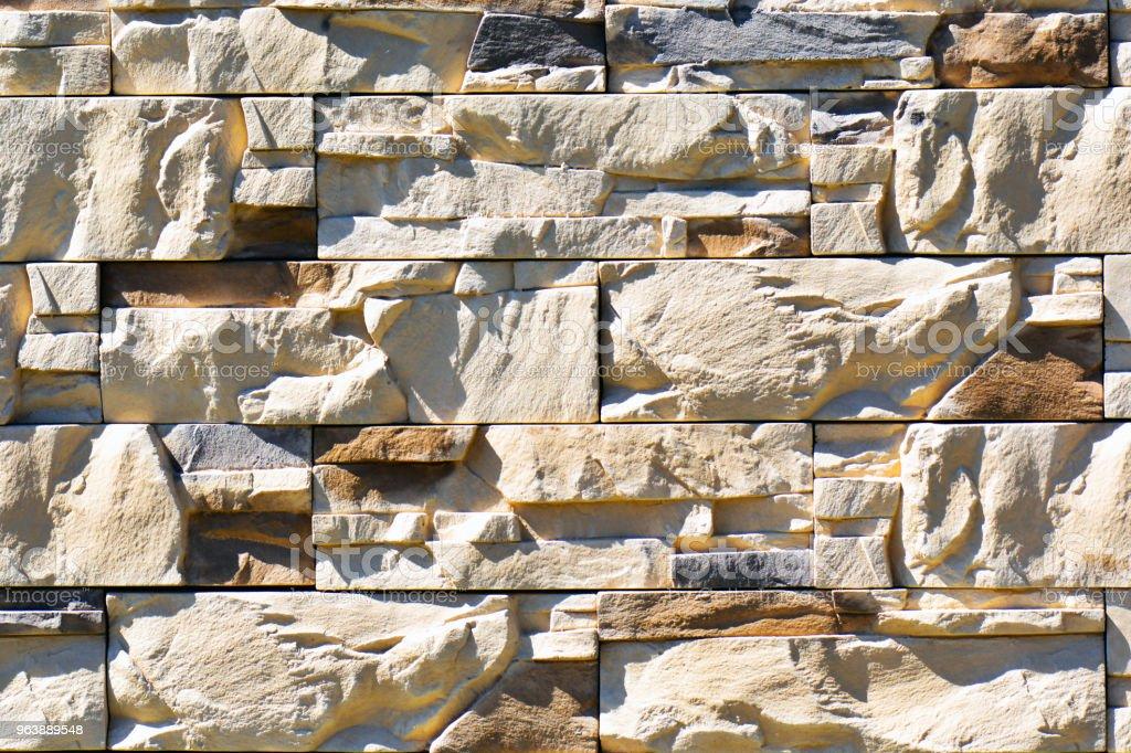 Modern stone brick wall background. Decorative Stone texture - Royalty-free Archival Stock Photo