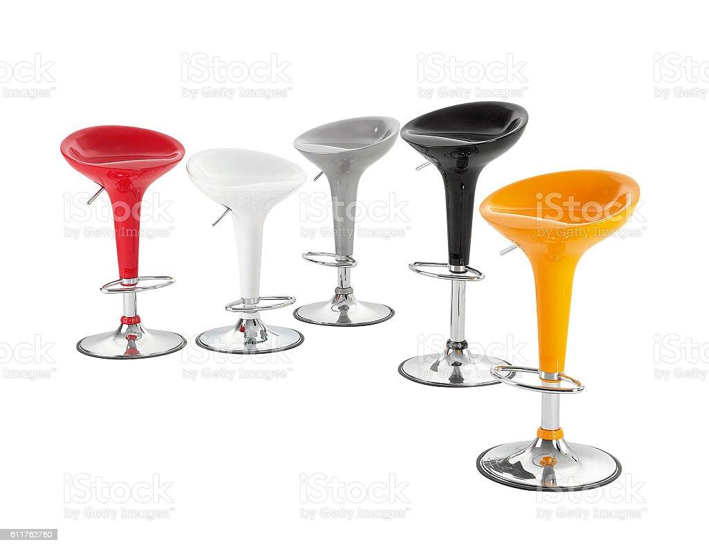 Modern stools stock photo