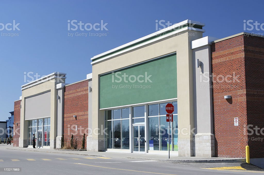 Modern Store Building Exterior stock photo