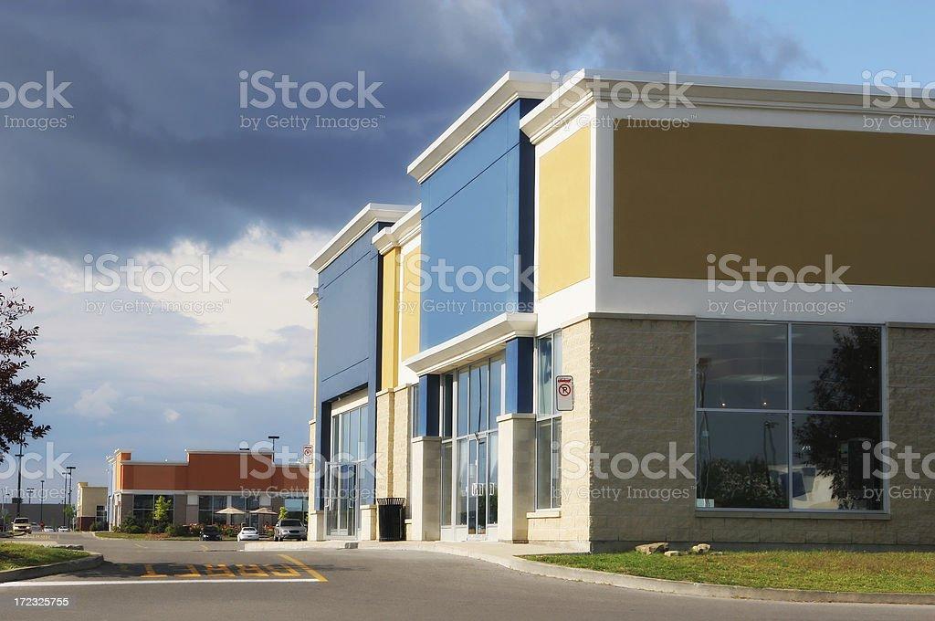 Modern Store Building stock photo