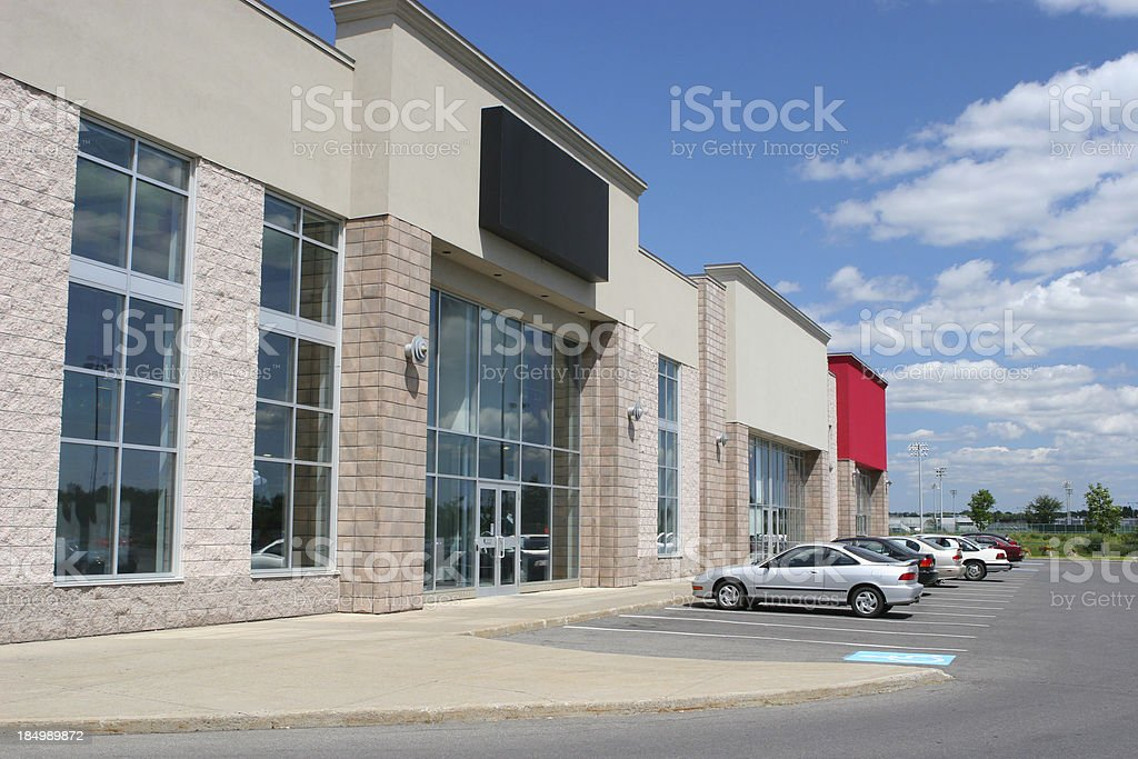 Modern Store Buildings stock photo