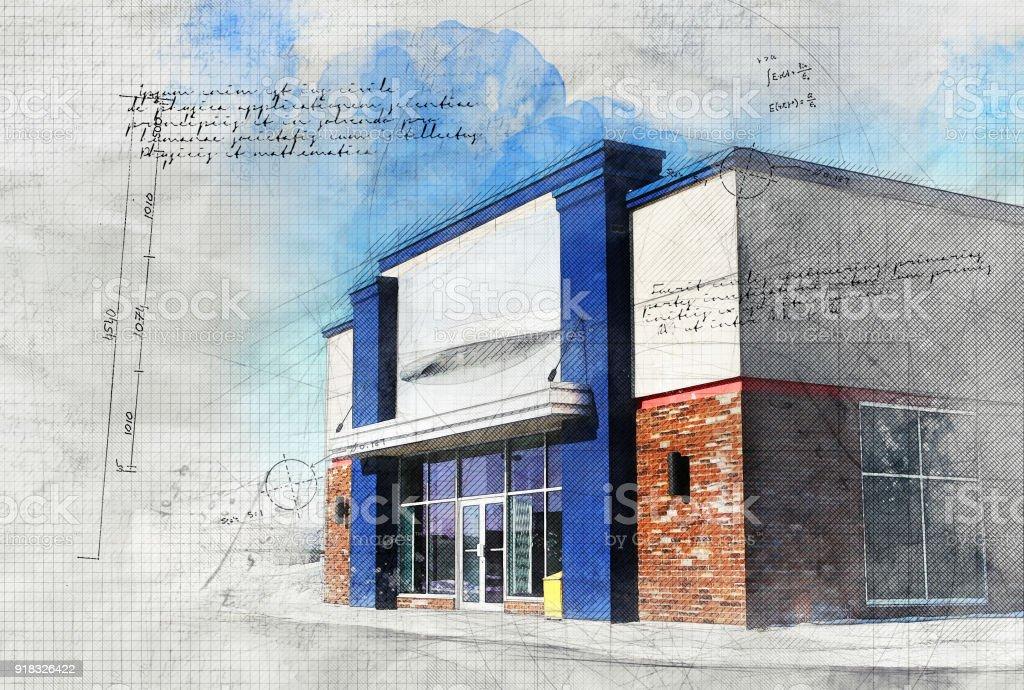 Modern Store stock photo