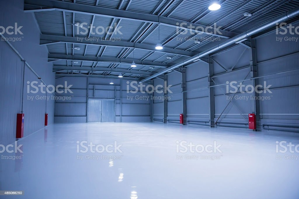 Modern storehouse, background for industry stock photo