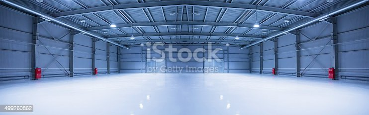 istock Modern storehouse, background for industry 499260862