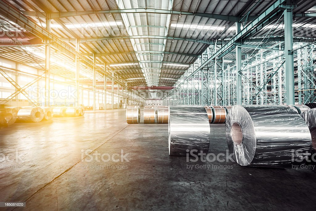 modern storehouse stock photo