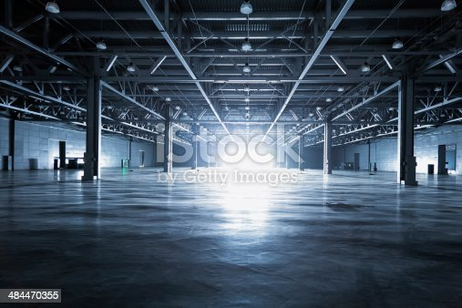empty modern storehouse