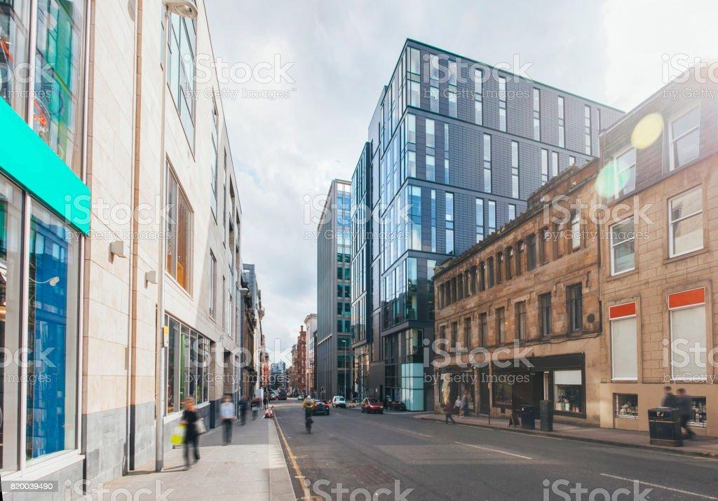 Modern street at city royalty-free stock photo